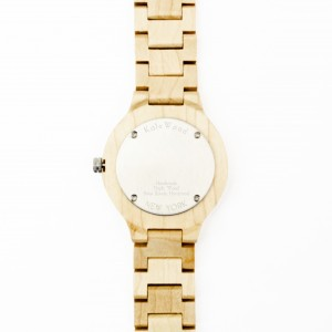 Kate-Wood-mens-wooden-watch-New-York-buy-maple-wood-watch-with-silver-details-at-Kate-Wood-webshop-white-plate-rear