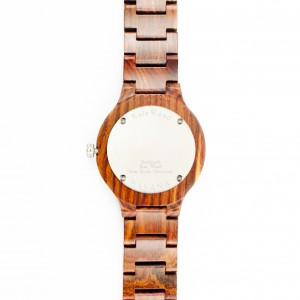 Kate-Wood-wooden-watch-Havana-men-watch-buy-wooden-watch-brown-sandalwood-at-Kate-Wood-webshop-front-white-plate-rear-silver